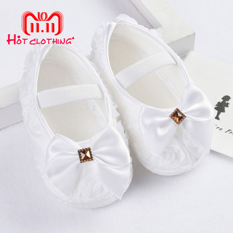 цена на Newborn Baby Shoes First Walkers Cute Baby Girls Shoes Princess Shoes Butterfly Wedding Baby Girl Shoes Sneakers