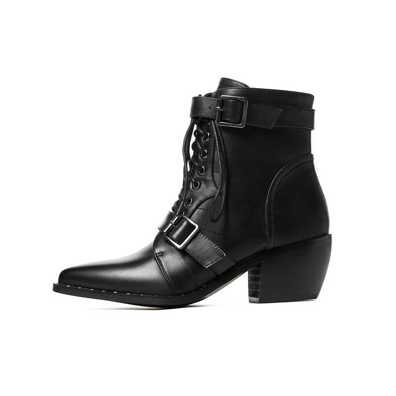 Taille Cuir Chaussures Pu Grande Western Marque Nouvelle 34 Talons Short 42 Bottes Black Offre Spéciale Cheville black Femmes Femme Chunky En Plush Vache wqX0qYd