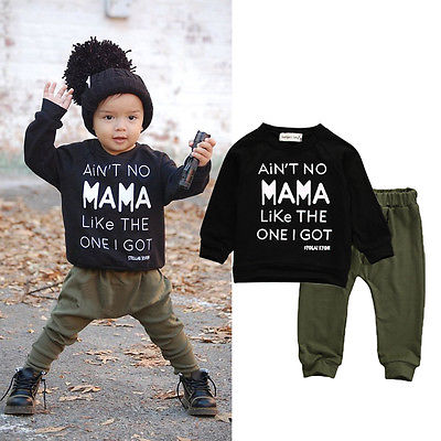 2pcs!!Newborn Toddler Infant Kid Baby Boy Autumn Winter Clothes Letter Long Sleeve T-shirt Tee+Long Pants Outfits Set 0-3Y 0 24m newborn infant baby boy girl clothes set romper bodysuit tops rainbow long pants hat 3pcs toddler winter fall outfits