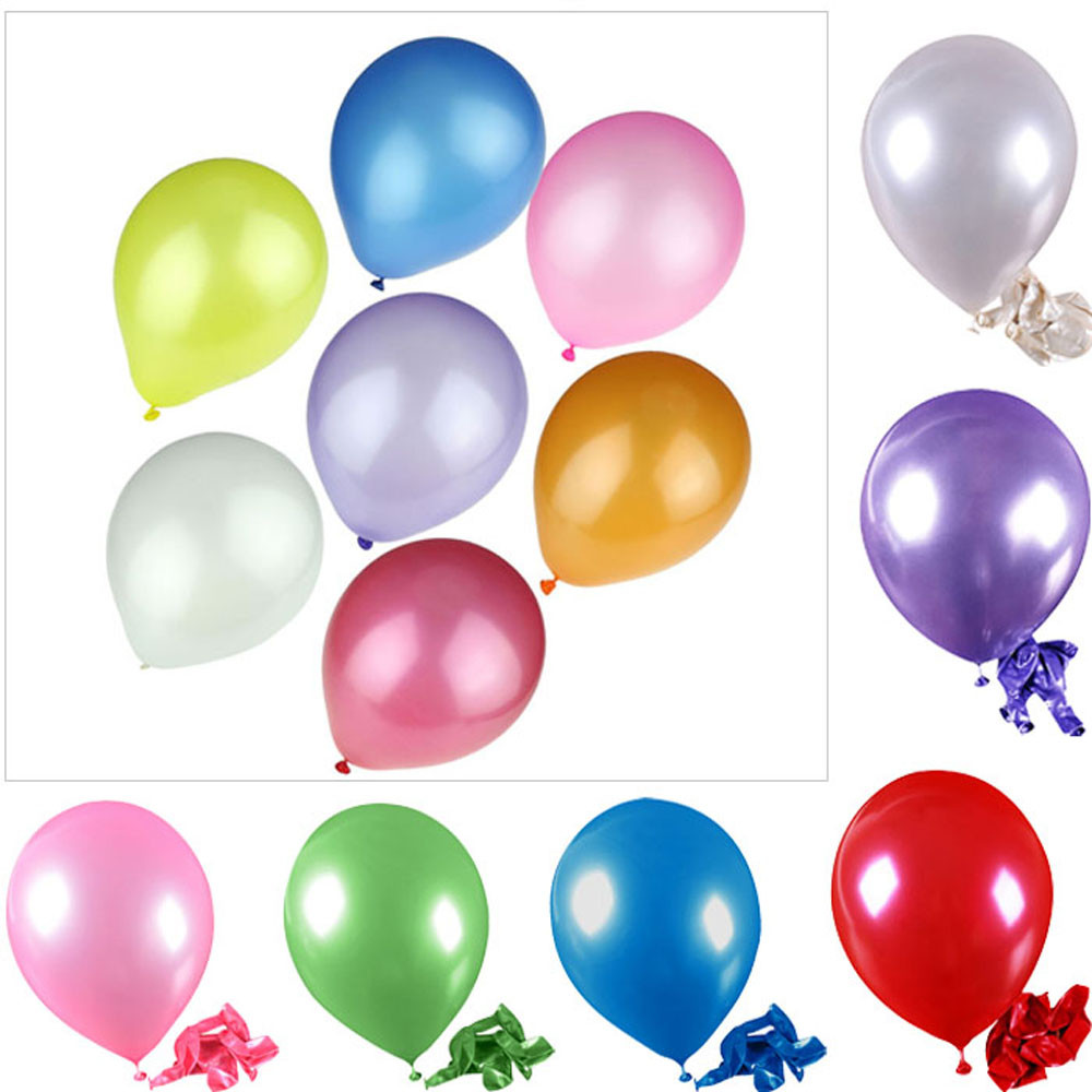 100pcs Pearl Latex Balloon Celebration Party Wedding Birthday Kids Toys Education Toy Ba ...