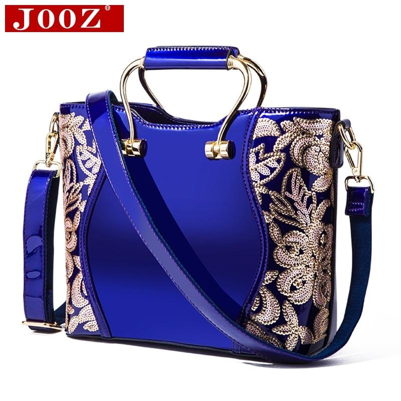 JOOZ 2018 sequins flowers bucket Women's tote Leather Clutch Bag Ladies Handbags Brand Women Messenger Bags Sac A Main Femme jooz brand women 100