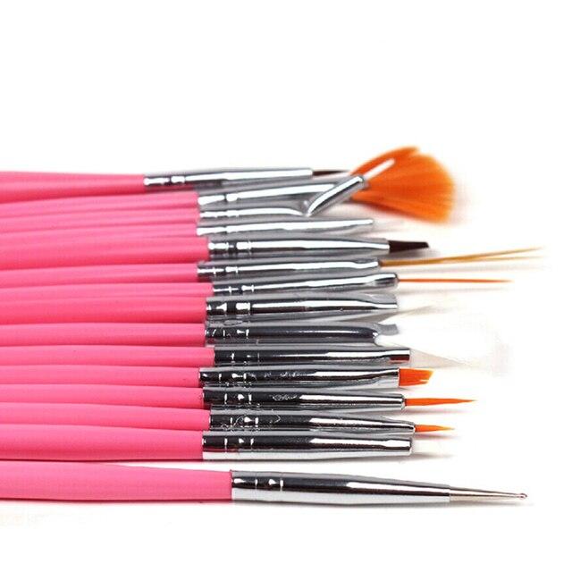 15pcs Professional Uv Gel Acrylic Nail Art Brush Set Nail Design