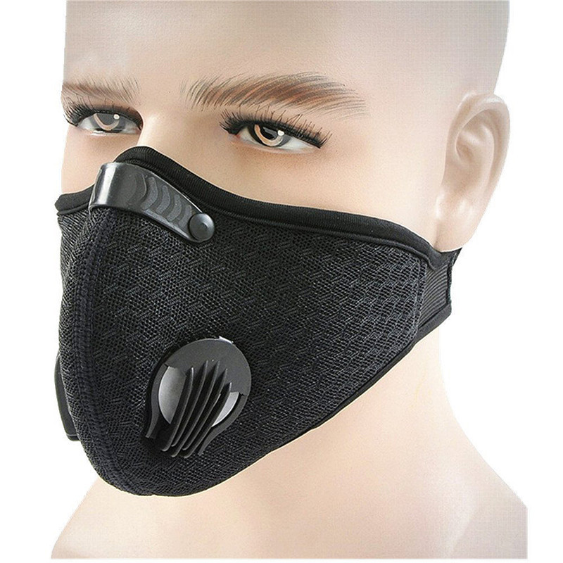 Cycling Sport Face Mask Bicycle Bike Dust-proof Mask 3D Breathable Anti-fog Training Mask Filter Face Shield rockbros bike cycling anti dust half face mask with filter neoprene size s