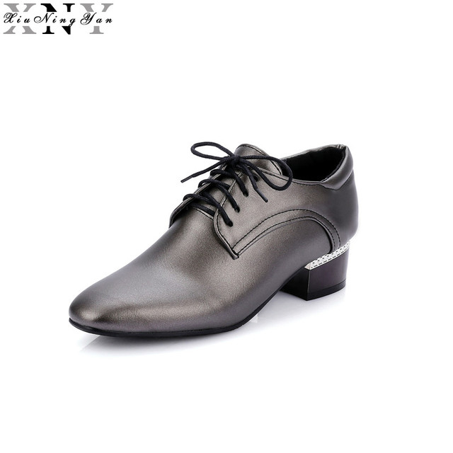 ac200f716b3 XIUNINGYAN Women Leather Brogue Shoes Spring Autumn Brand Pointed Toe  Women's Flats Fashion Ladies Elegant Loafers Soft Oxfords-in Women's Flats  from ...