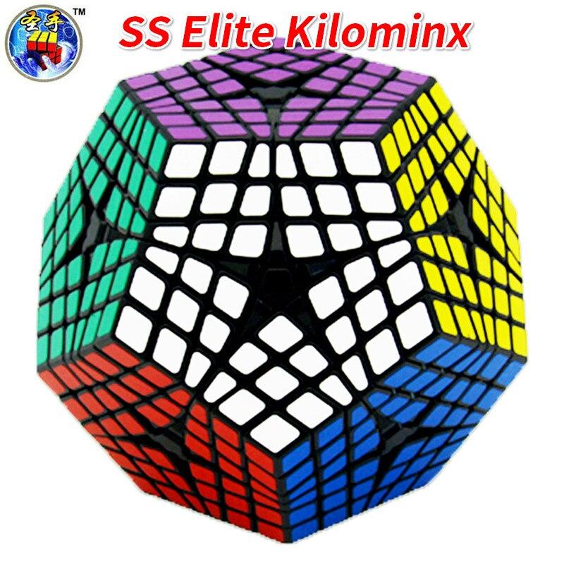 Shengshou Elite Kilominx Cube noir vitesse Cube Cubo magique jouets éducatifs 6x6Layer