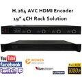1U H.264 4CH HDMI suporte RTMP Codificador De Vídeo para Transmissão ao vivo para Wowza, RED5, FMS, Youtube, Facebook, Twitch