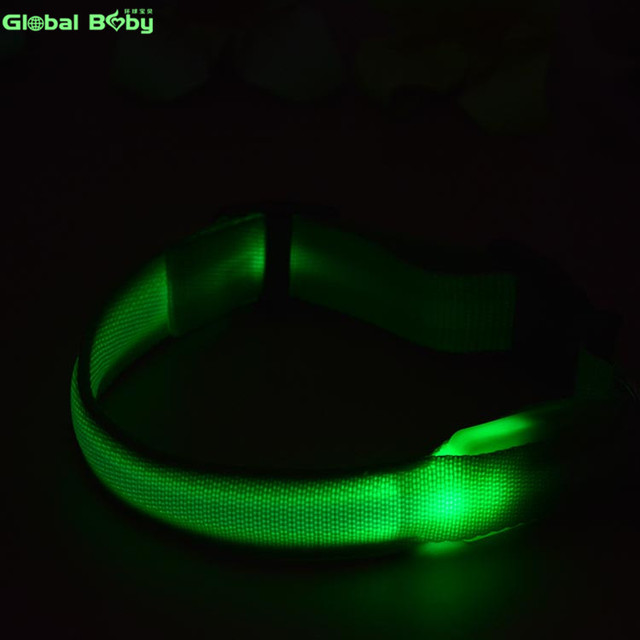 7Colors Nylon Night Safety LED Dogs Collar  Lights Flashing Glow  Pet Supplies Dog Cat Leash