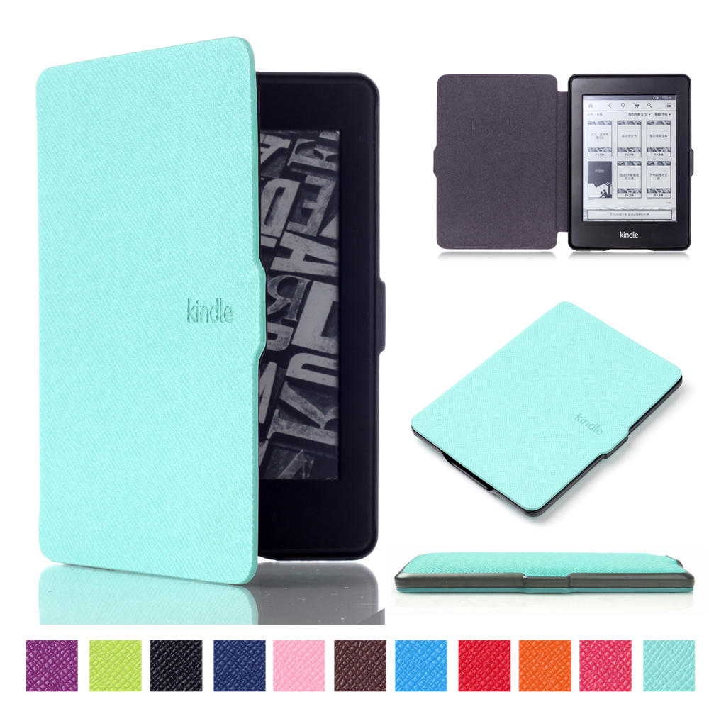 GOOYIYO - Hot For Amazon Kindle Paperwhite 2013 2015 2016 Reader E-book Cover Tablet Magnetic PU Leather Case Ultra Slim Shell pu leather ebook case for kindle paperwhite paper white 1 2 3 2015 ultra slim hard shell flip cover crazy horse lines wake sleep