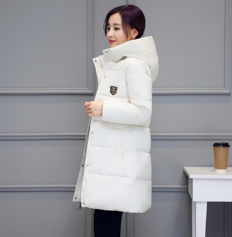 3133f2dc3 SWREDMI White Winter Coat Women 18 Hot Sale Long Parka Fashion ...