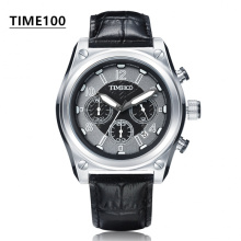 Fashion Men's Sport Brand Watches Leather Strap Multifunction Casual Quartz Watch Waterproof  Men Gift Original Watch W0448