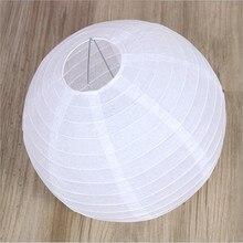 """10 шт. 1"""" 40 см белые китайские бумажные лампы-фонари свадебное украшение для вечеринки в день рождения белая висячая бумага"""