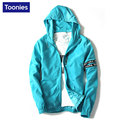 2017 Spring New Man Outerwear Hoodies Jackets Slim Solid Color Men Long Sleeved Zipper Thin Coats Hooded New Casual Fashion Top