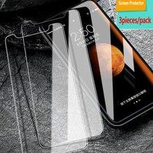 3 قطعة سهلة لتثبيت جدا رقيقة خدش الهاتف المحمول المقسى الجبهة واق شاشة رقيق الزجاج ل apple iphonex 7 8 6 7p