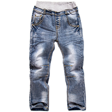 Children Elastic Waist Jeans Trousers Boys Pants Long Sleeve Jeans Pants Boys Jeans Children Trousers three four 5 6 7 eight Years Old Boy