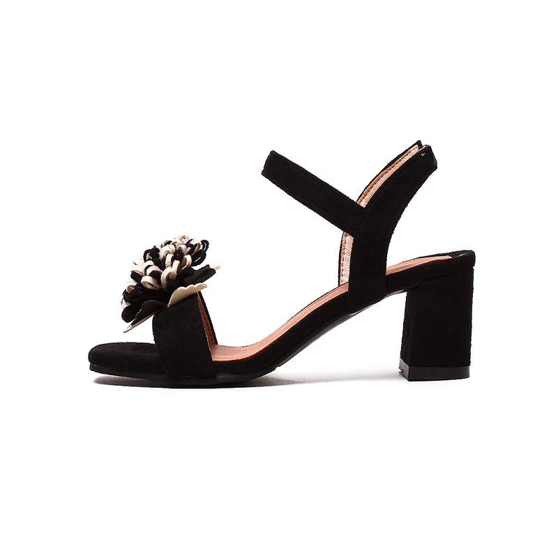 581288c043dd HAIOU Brands 2017 low heels sandals women Thick heel Sandals Women open toe  Summer shoes sexy sandals with floral shoes elegant-in Women s Sandals from  ...