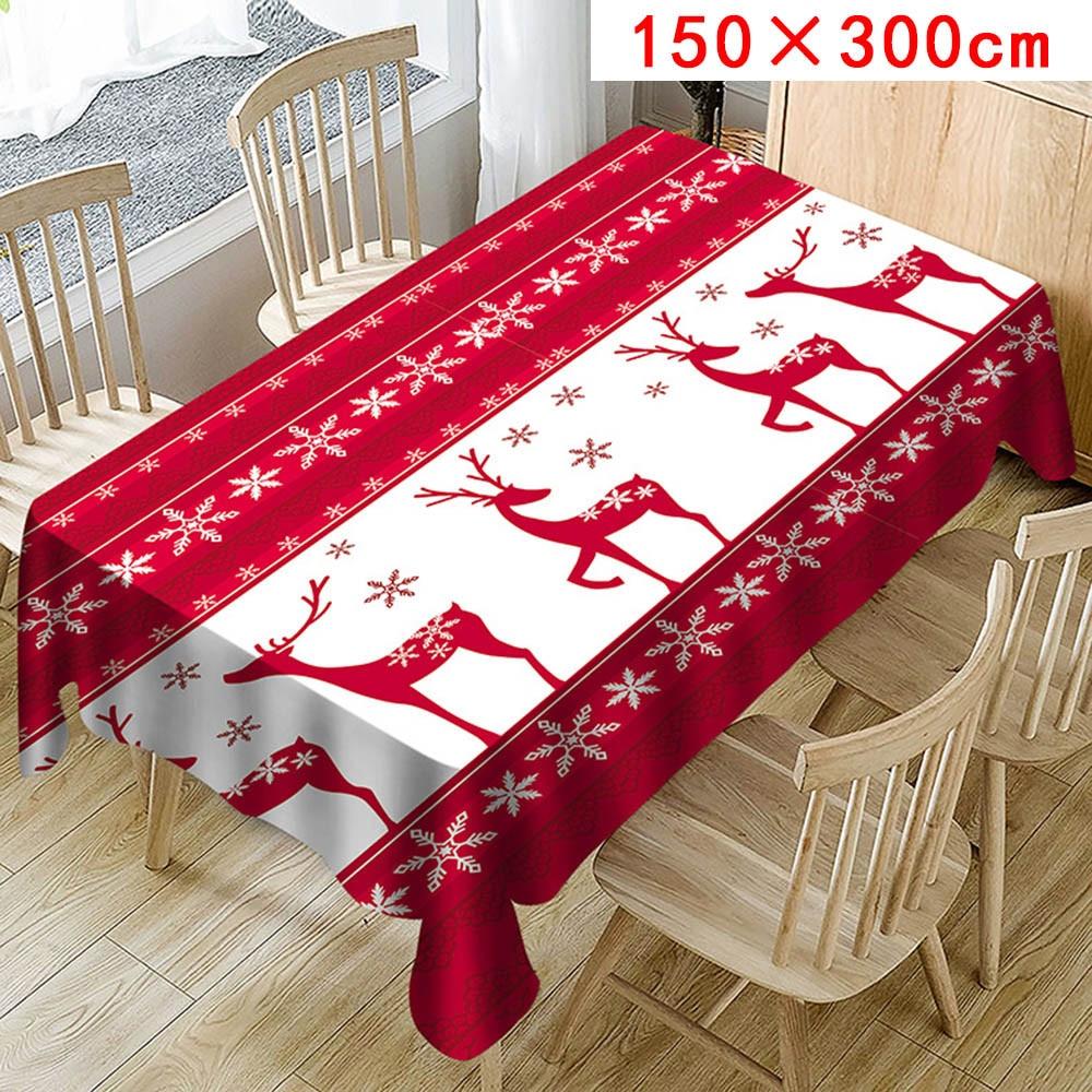 1 St Kerst Tafelloper Mat Tafelkleed Kerst Home Party Decoratieve Herten Tapestry Rode Tafellopers Tafelkleed Cover 758! Seniliteit Uitstellen