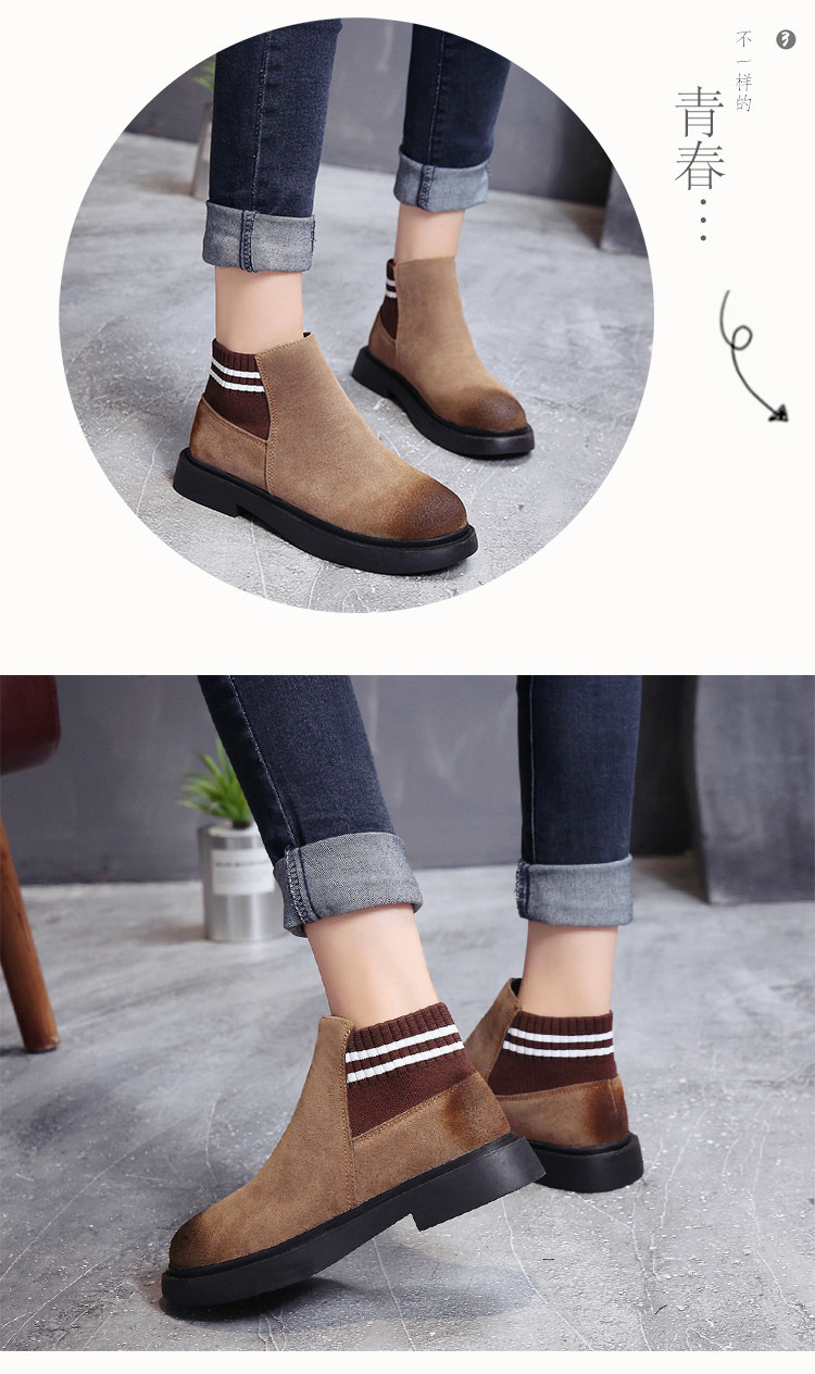 The new autumn 2018 Martin boots flat short tube with restoring ancient ways round head women's boots 51