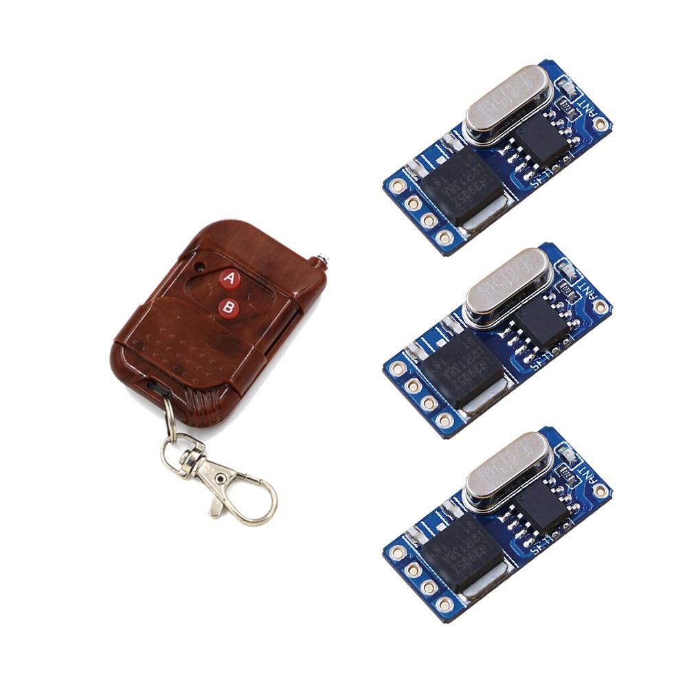 2017 New No Sound Micro Remote Switch 3.5V 4.5V 6V 7.4V 9V 12V Subminiature Small Size RF Receiver Transmitter Mini Power Remote  цены
