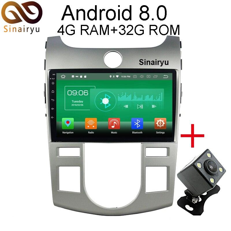 Sinairyu 4 г Оперативная память Android 8.0 автомобильный DVD для Kia Cerato Forte 2008 2009 2010 2011 2012 Octa core 32 г Встроенная память Радио GPS плеер головное устройство