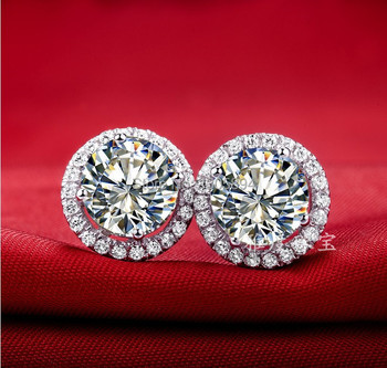 1CT Piece Mirco Paved Brilliant LC Diamond Stud Earrings For Women Sterling Silver Jewelry White Gold.jpg 350x350 - 1CT/Piece Mirco Paved Brilliant  LC Diamond Stud Earrings For Women Sterling Silver Jewelry White Gold Cover