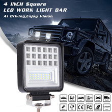 LED Work Light Bar 126W 6000K Flood Spot Beam Offroad 4WD SUV Driving Fog Lamp IP68 For ATV UTV SUV Truck Trailer Forklift