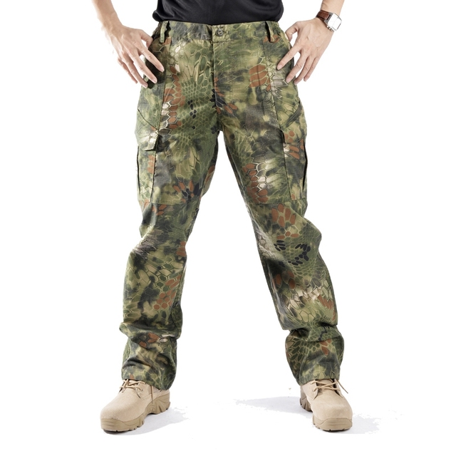 Outdoor Camouflage Combat Rattlesnake Pants Tactical Loose Army Uniform  Men s Pattern Sport Soldier Training Cargo Cotton Pants a5744b302d7