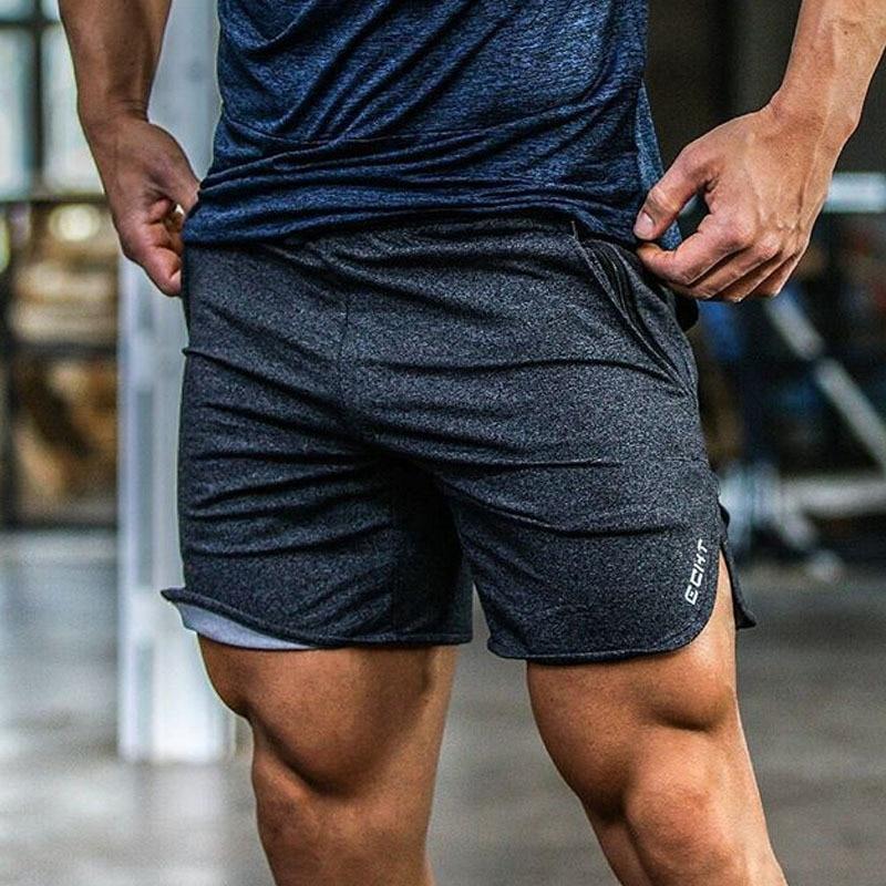 Hot Sale Sport Running Shorts Men Cotton Comfortable Workout Bodybuilding Zipper Pocket Fitness Sportswear Training Gym Shorts men pocket decoration shorts