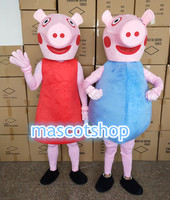 pink pig mascot costume Adult size pink pig mascot costume free shipping