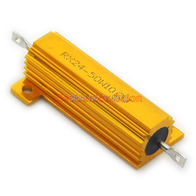 Uxcell a14010900ux0145 2 Piece 20 Ohm 10W 10W Aluminum Housing Wire-Wound Gold Tone Resistor