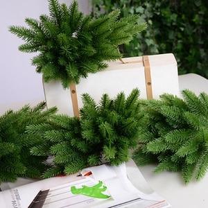 Image 4 - 1 paket yapay çiçek sahte bitkiler çam dalları noel ağacı noel partisi süslemeleri için noel ağacı süsler çocuklar hediye