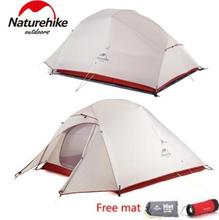 Naturehike Updated Cloud Up 1 2 3 Person 20D Fabric Ultralight Outdoor Camping Tent Outdoor Winter Camp With Free Mat naturehike cloud up series 1 2 3 person ultralight tent camp equipment 20d nylon upgrade 2 man winter camping tent with mat