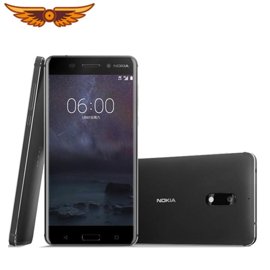 Оригинальный разблокирована Nokia 6(2017)Octa Core 5,5 дюймов 4 Гб Оперативная память 32GB Встроенная память 16.0MP + 8MP камера LTE 4G Две сим-карты/мобильный те...