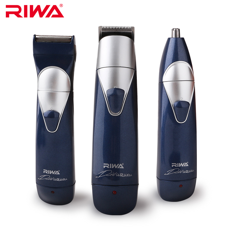 RIWA 3 in 1 Hair Trimmer Kits 3 Heads (Hair Clipper+Nose Trimmer+Electric Shaver) Multifunctional Hair Trimmers For Men RE-550A new arrival pritech brand electric hair clipper shaver nose trimmer for men traveling and good packing gift