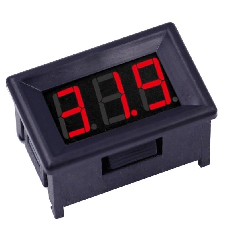 0.36 Inch DC2.4-30V Car Red Digital LCD Display Motorcycle Volt Panel Meter Voltage Gauge Voltmeter 46%off