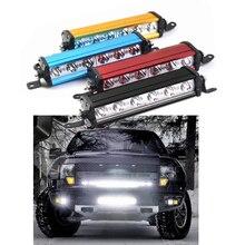 7 дюймов 18 Вт Однорядный Светодиодный точечный рабочий светильник, 4WD светодиодный бездорожье гриль для внедорожника, грузовика, уличный светильник ing для вождения джипа, 6 светодиодный алюминиевый