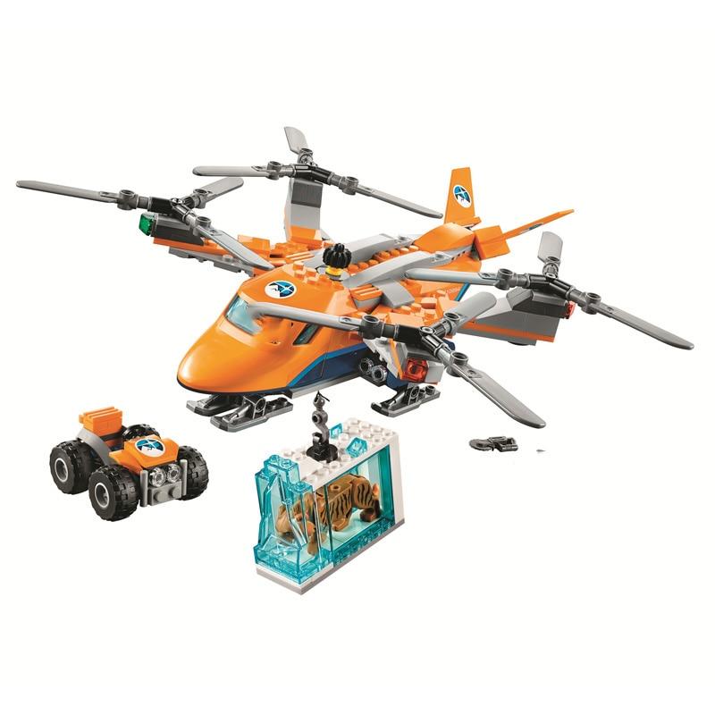 Bela Compatible Legoing Blocks City Arctic Expedition Sets Supply Plane Urban Buidling Blocks Bricks 2018 New Toys For Children
