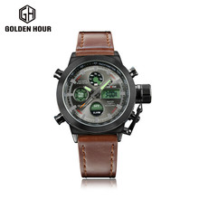 Top Brand Luxury Men Swimming Digital LED Quartz Outdoor Sports Watches Military Relogio Masculino Clock With Leather Strap gift