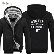 Game of Thrones Hoodies Sweatshirts Mens 2018 Hot Sale Winter Jackets Fleece Zipper New Fashion Casual Thick Coat Jacket