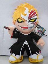 Movie TV Plush Toy Cute Original Anime BLEACH ICHIGO KUROSAKI Mask Anime Doll 14″