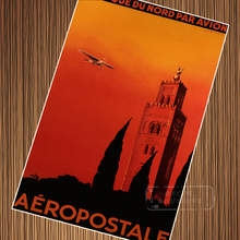 Aeropostale Afrique Du Nord Africa Landscape Trip Travel Retro Vintage  Poster Canvas DIY Wall Art Home