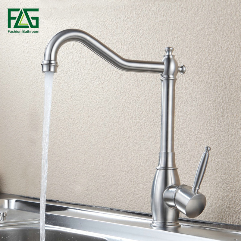 FLG 304 Stainless Steel Kitchen faucet Cold Hot Sink Mixer Kitchen Tap Single Handle Water Tap Torneira Cozinha 248-33A wireless cordless dental endo treatment equipment endodontic motor with led light