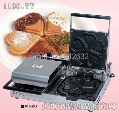 1 tête Machine à muffins en forme de coeur Non collant gâteau Sandwich Machine à Sandwich à la crème glacée