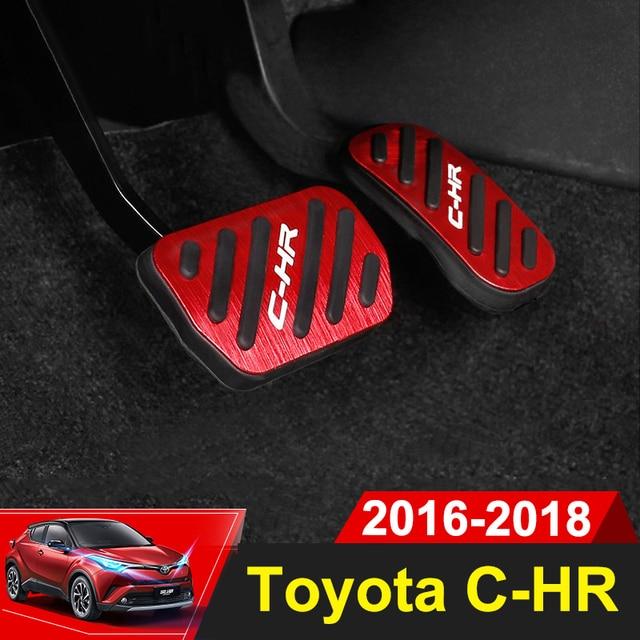 Aleación de aluminio coche estilismo acelerador Pedal freno Pedal cubierta para Toyota C-HR C HR CHR 2016 2018 2017 Accesorios