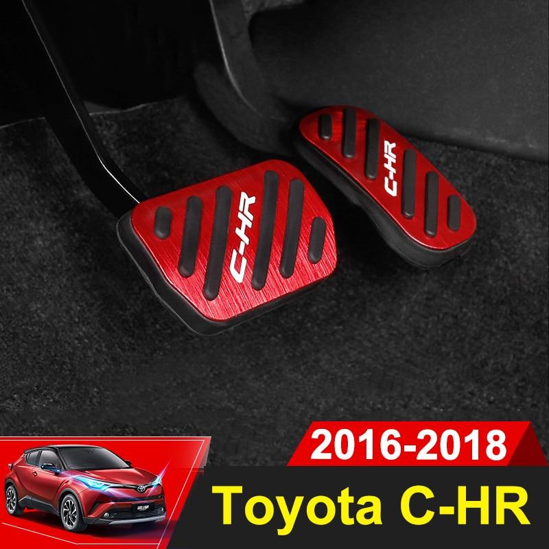 Aluminum alloy Car Styling Accelerator Gas Pedal Brake Pedal Cover AT For Toyota C-HR C HR CHR 2016 2017 2018 Accessories paul mitchell лак для волос средней фиксации super clean spray 300 мл page 2