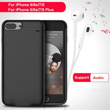 цены 5000/7000mAh Portable Battery Charger Case For iPhone 6/6s/7/8 External Backup Power Bank Case For iPhone 6/6s/7/8 Plus Cover