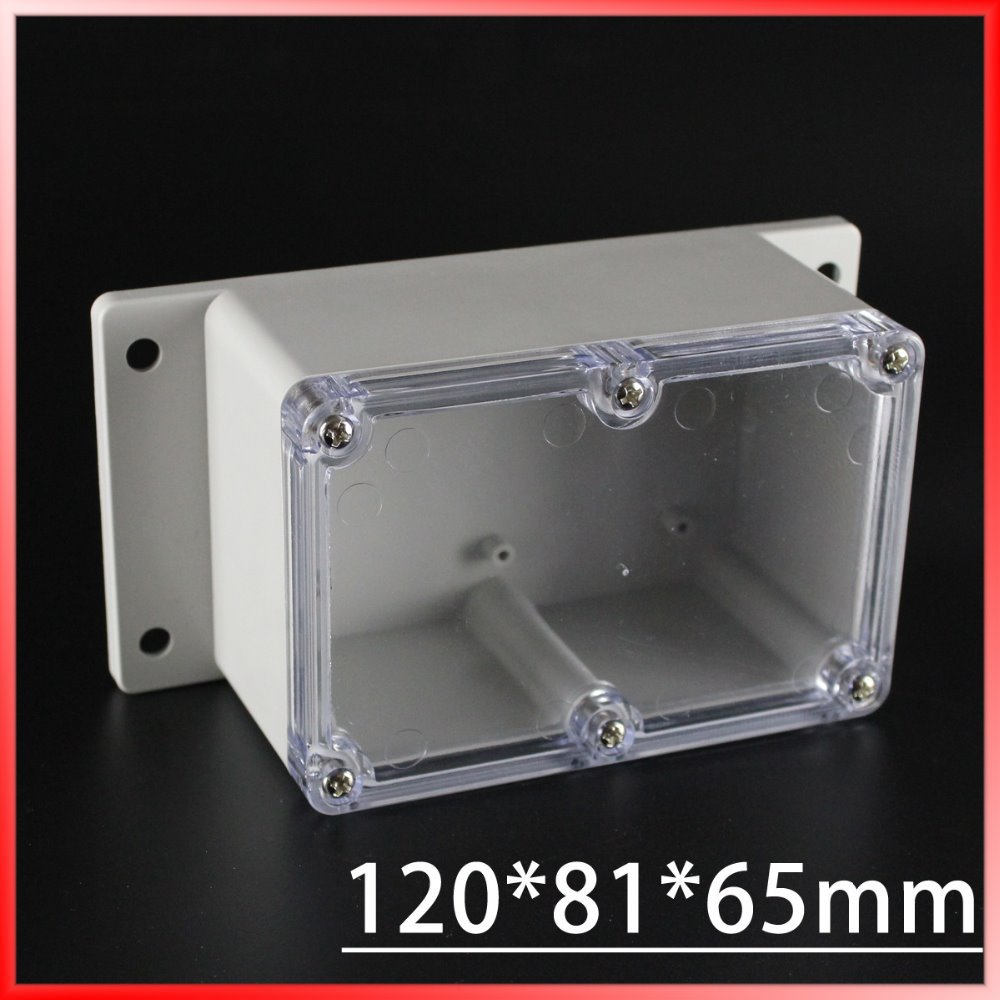 (1 piece/lot) 120*81*65mm Clear ABS Plastic IP65 Waterproof Enclosure PVC Junction Box Electronic Project Instrument Case 1 piece lot 320x240x110mm grey abs plastic ip65 waterproof enclosure pvc junction box electronic project instrument case