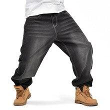 Американский Стиль Бренда Мужские Мешковатые Джинсы Свободно Плюс Большой Размер Джинсы мужчины Hip Hop Джинсы Долго Кататься На Коньках Борту Жан Шаровары MB17085