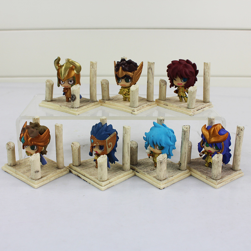 Image 4 - 7pcs/lot Seiya Shiryu Shun Hyoga Jabu Shaka Saga Kanon Knights of the Zodiac Figure Toys Anime Model Dolls-in Action & Toy Figures from Toys & Hobbies