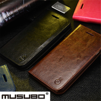 Real Leather Case For IPhone Samsung S6 S7 Edge Note 2 3 4 5 Flip Phone
