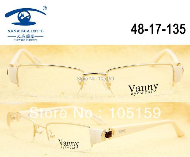 908eb56b954 Free Shipping Stainless Frame Acetate Temple Top Grade Vancy Designer Eyeglasses  Woman